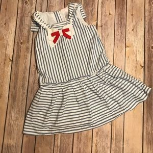 Janie and Jack Dress Striped Sailor Summer dress